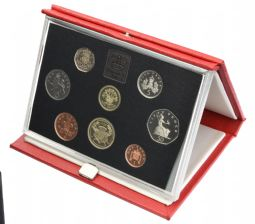 1986 Proof set red Leather deluxe